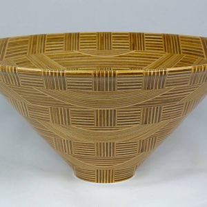 Plywood Bowl, Basket Weave Design, Profile