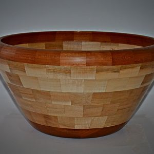 Cherry & Maple Utility Bowl