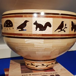 nature themed bowl back view