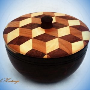3 D Lidded Bowl