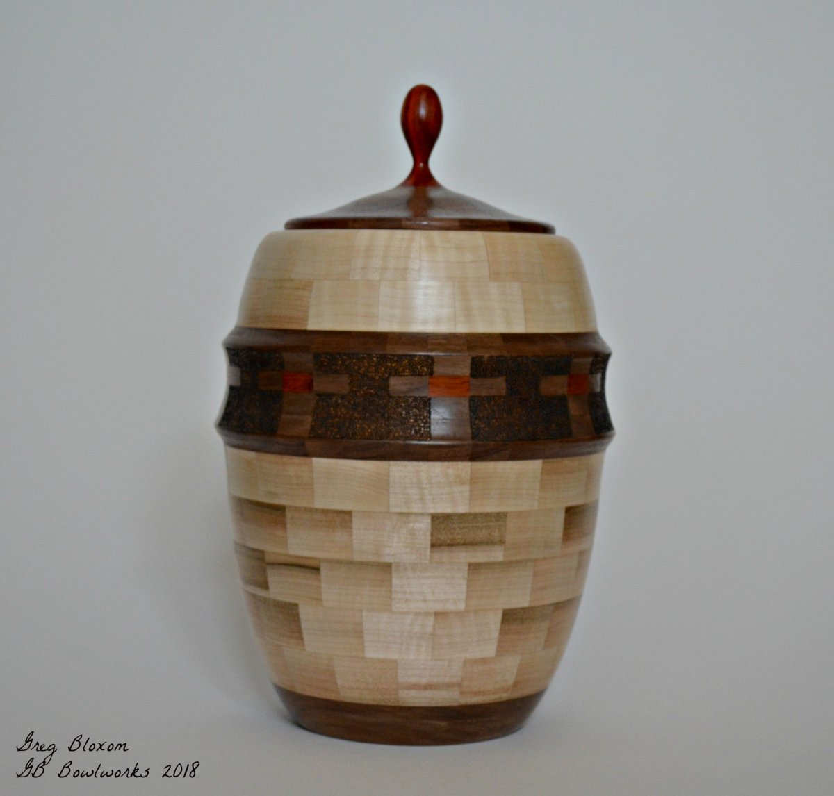 Maple, Walnut, Padauk Urn